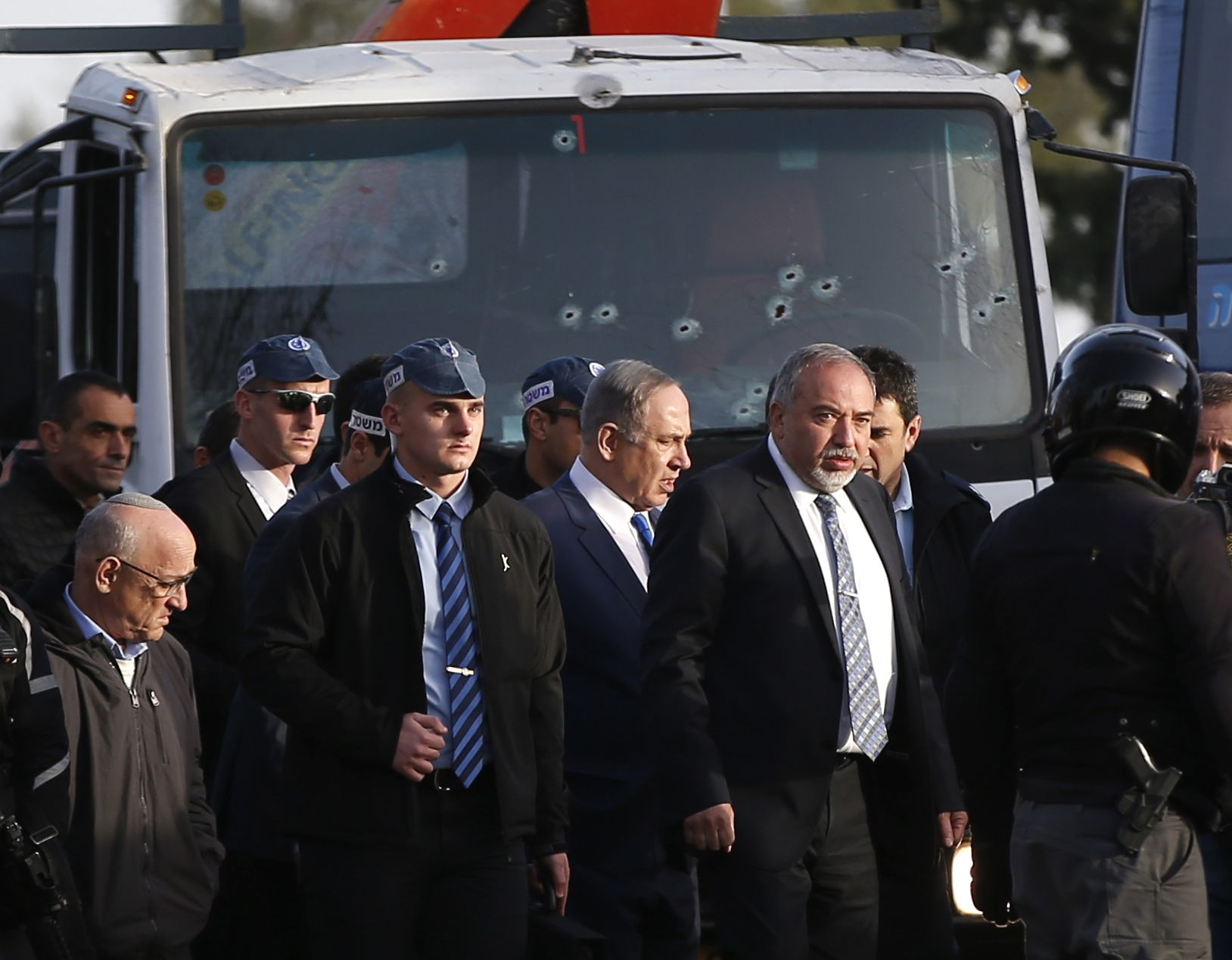 Netanyahu at site of truck attack