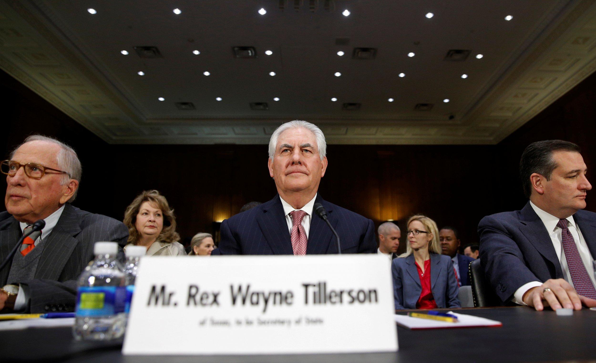 Rex Tillerson secretary of state hearing