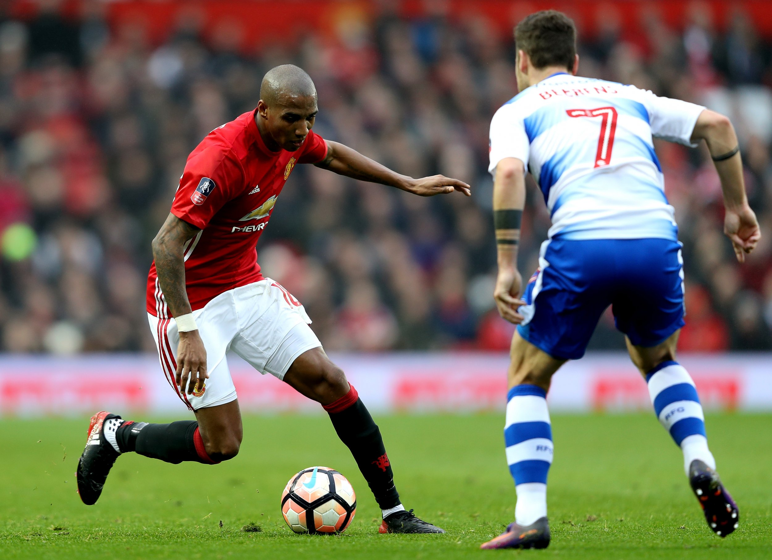 Manchester United winger Ashley Young