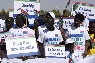 Gambia protest in Senegal