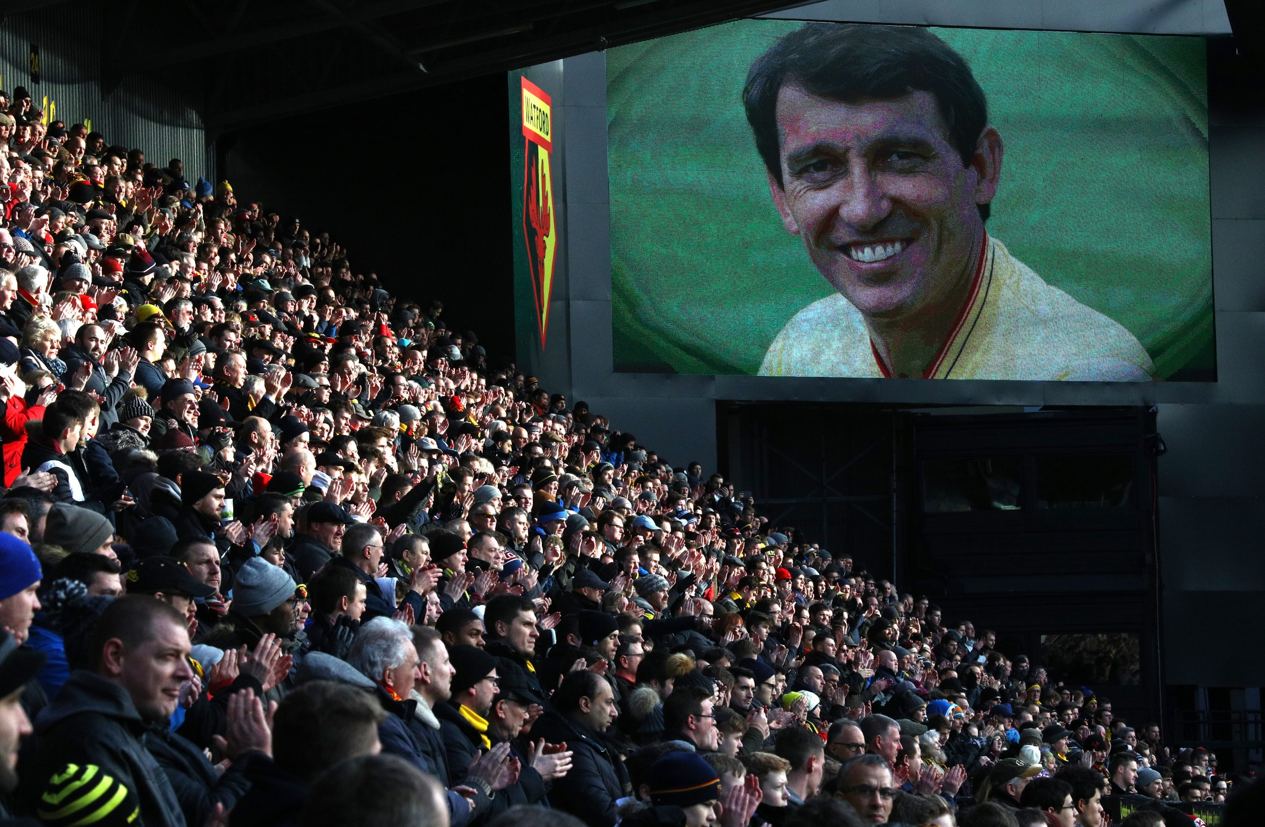 An image of Graham Taylor, the former Watford manager.