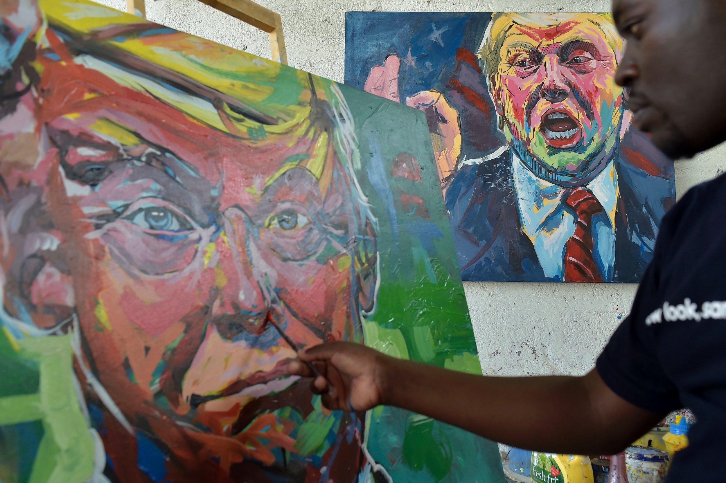 Donald Trump Kenyan artist