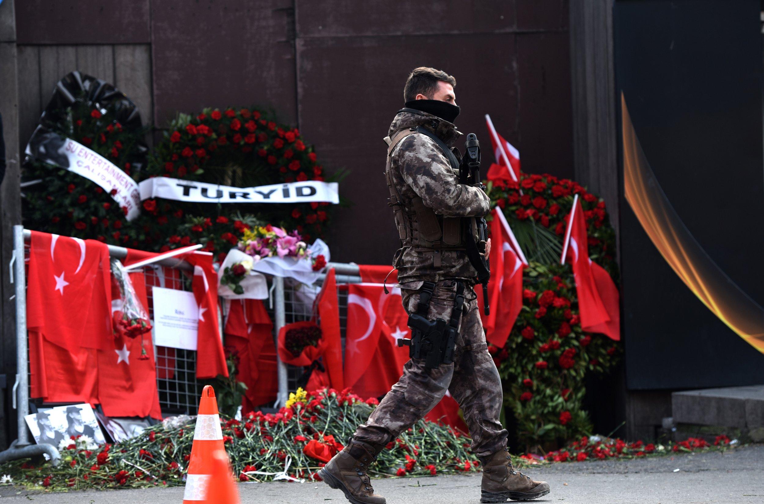 Turkish policeman at nightclub