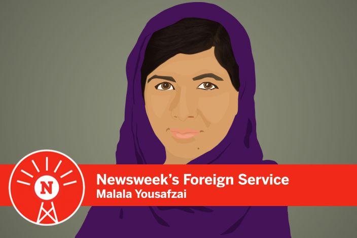 Graphic drawing of Malala Yousafzai