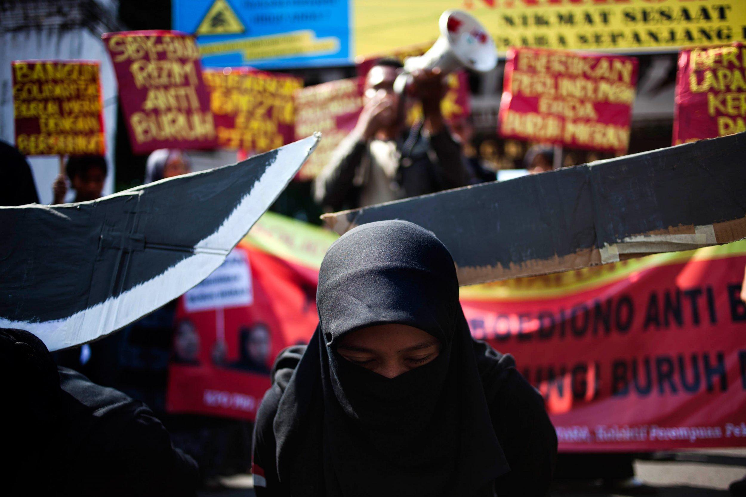 Indonesia Saudi protest