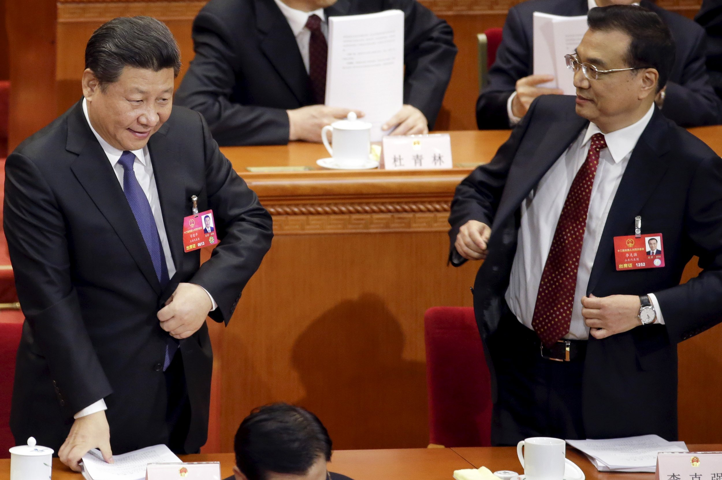 China Xi Jinping and Li Keqiang