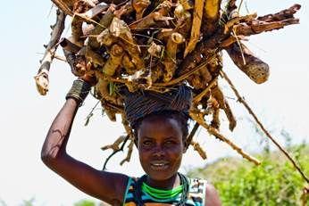 A woman in Karamoja, Uganda