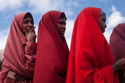 Women and girls in Dadaab refugee camp