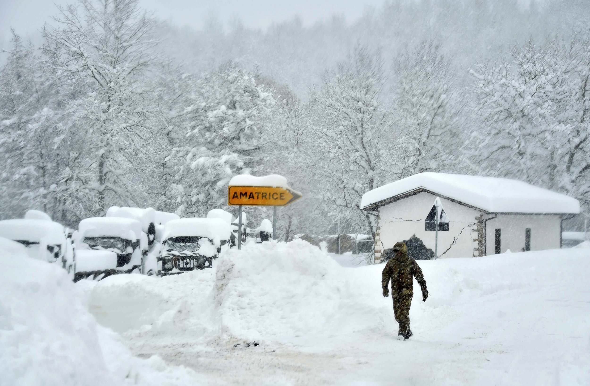 Italy snowstorm