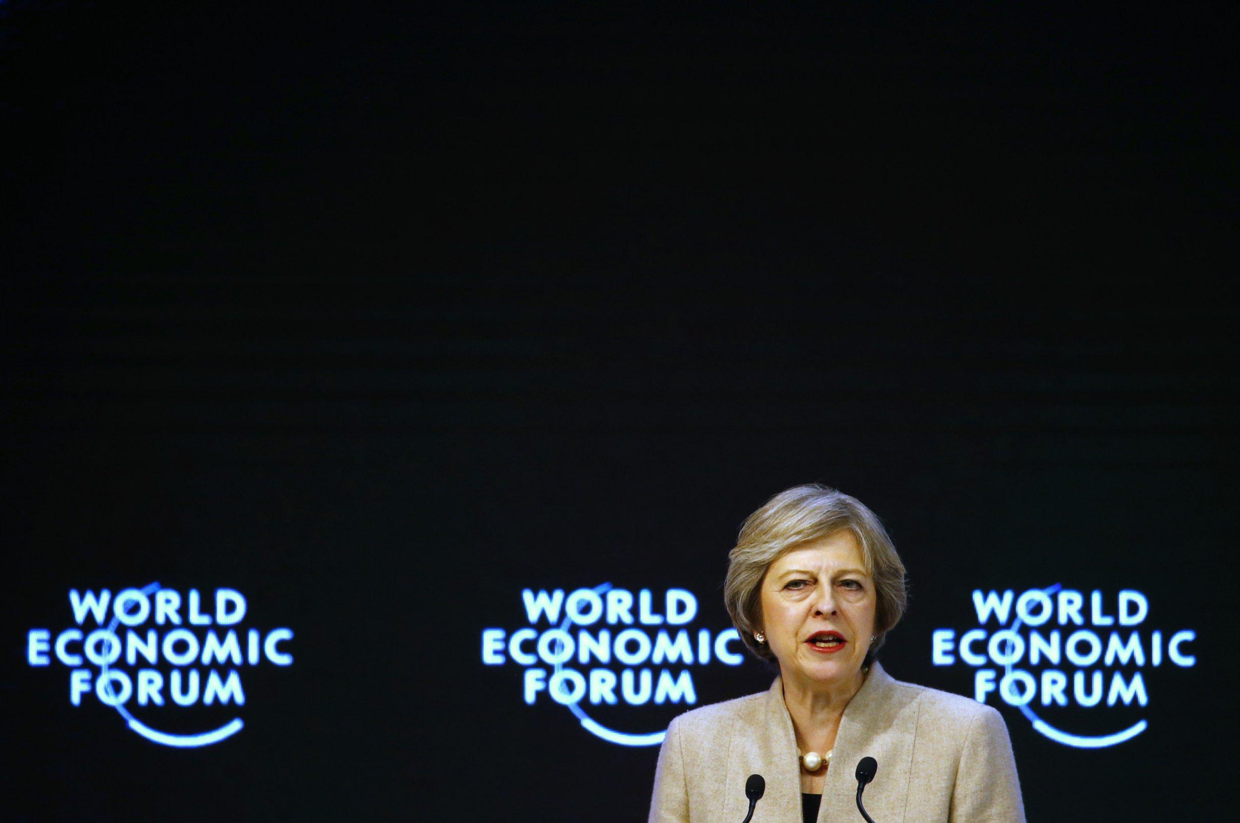 Theresa May Davos