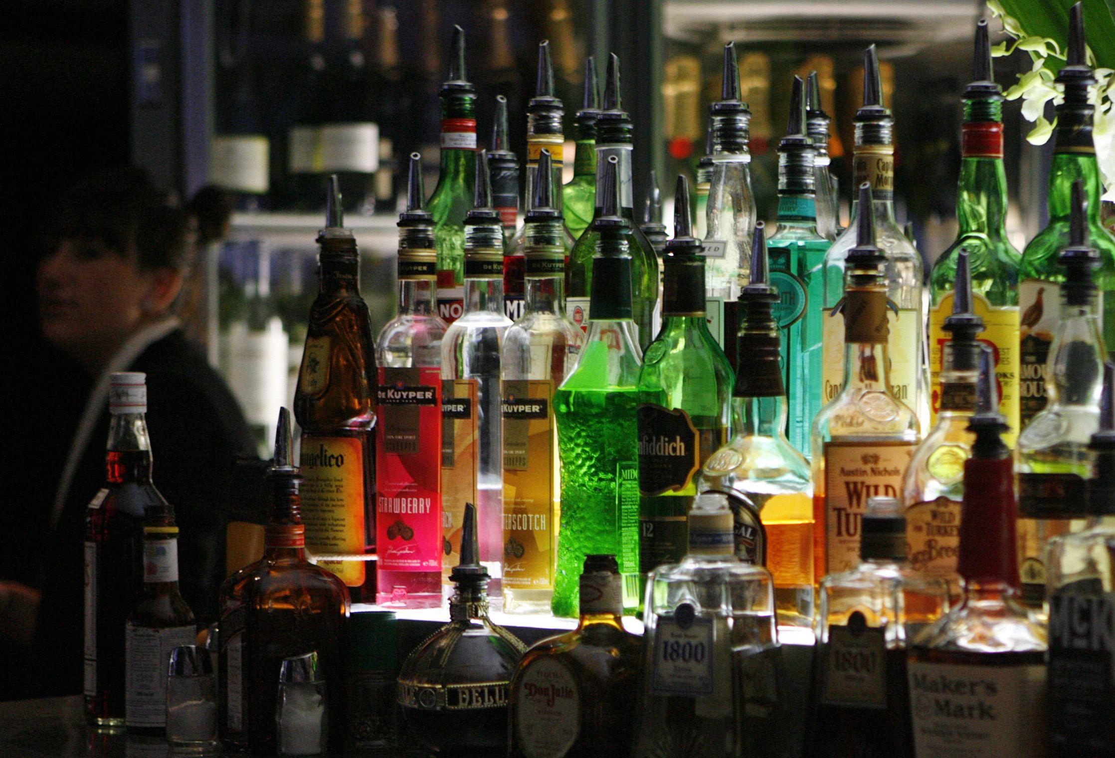 Bar of drinks