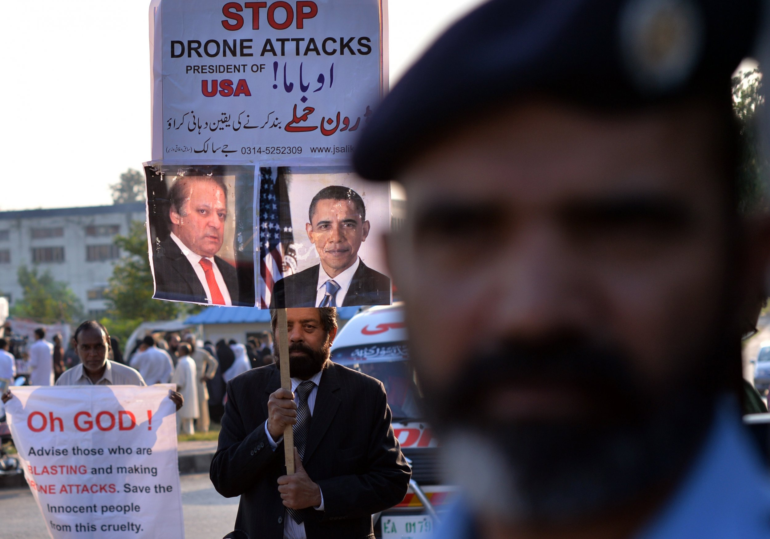 Drone protest Islamabad