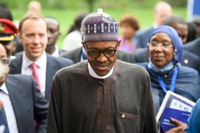 Nigerian President Muhammadu Buhari in London