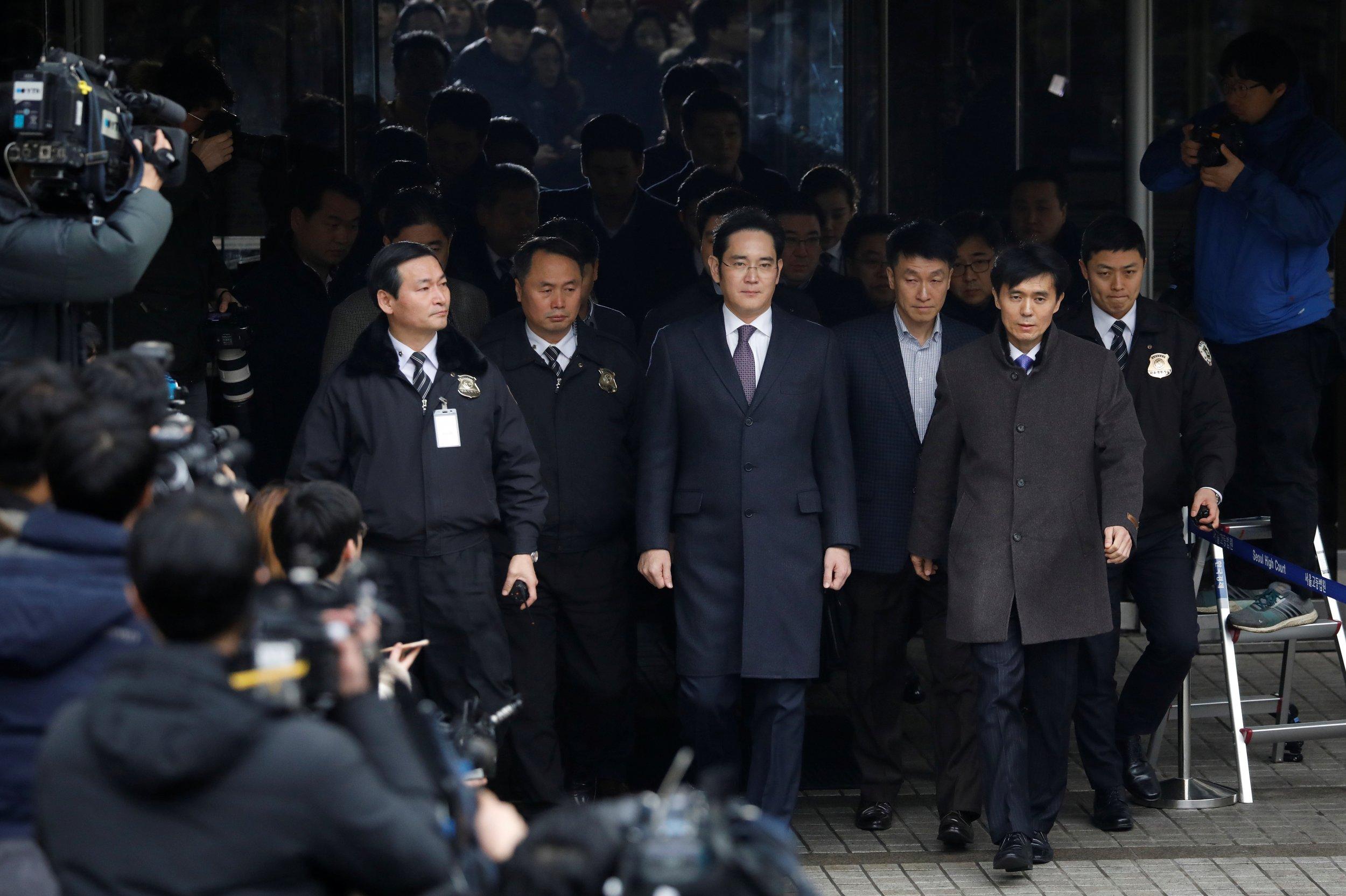 Samsung Group chief Jay Y. Lee