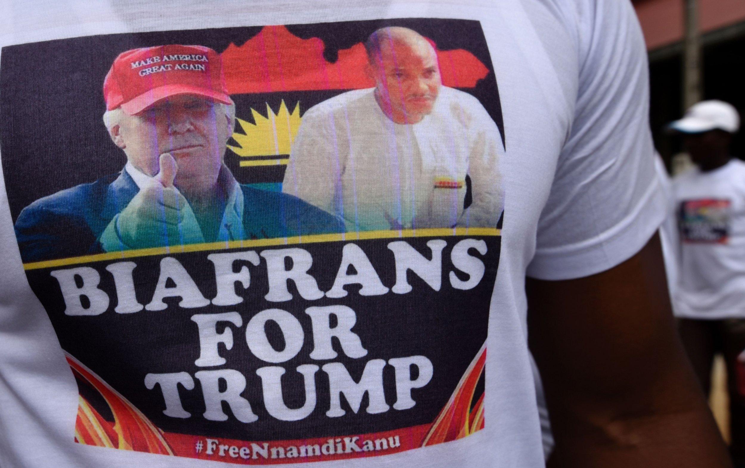 Donald Trump Biafra t shirt
