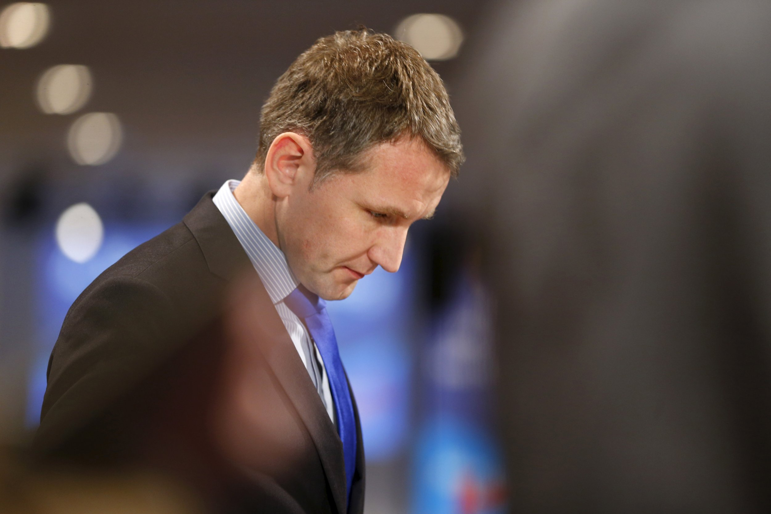 Bjoern Hoecke, spokesperson of the right-wing Alternative for Germany (AfD) party
