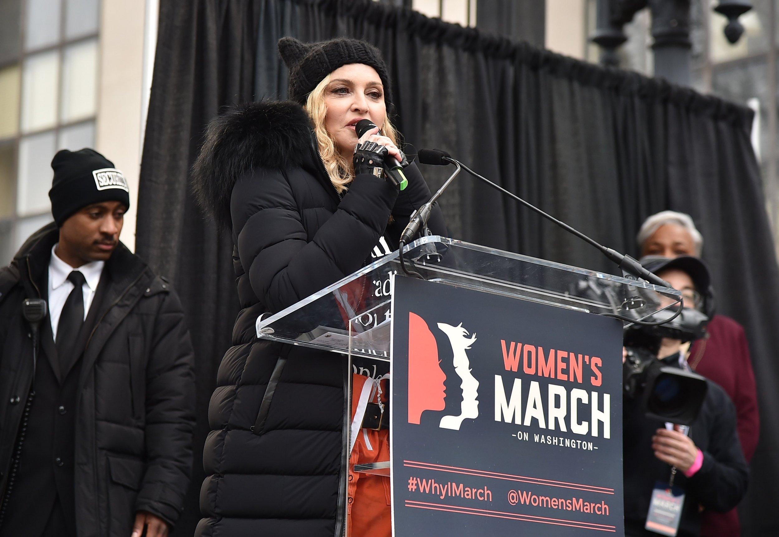 Madonna at Women's March on Washington