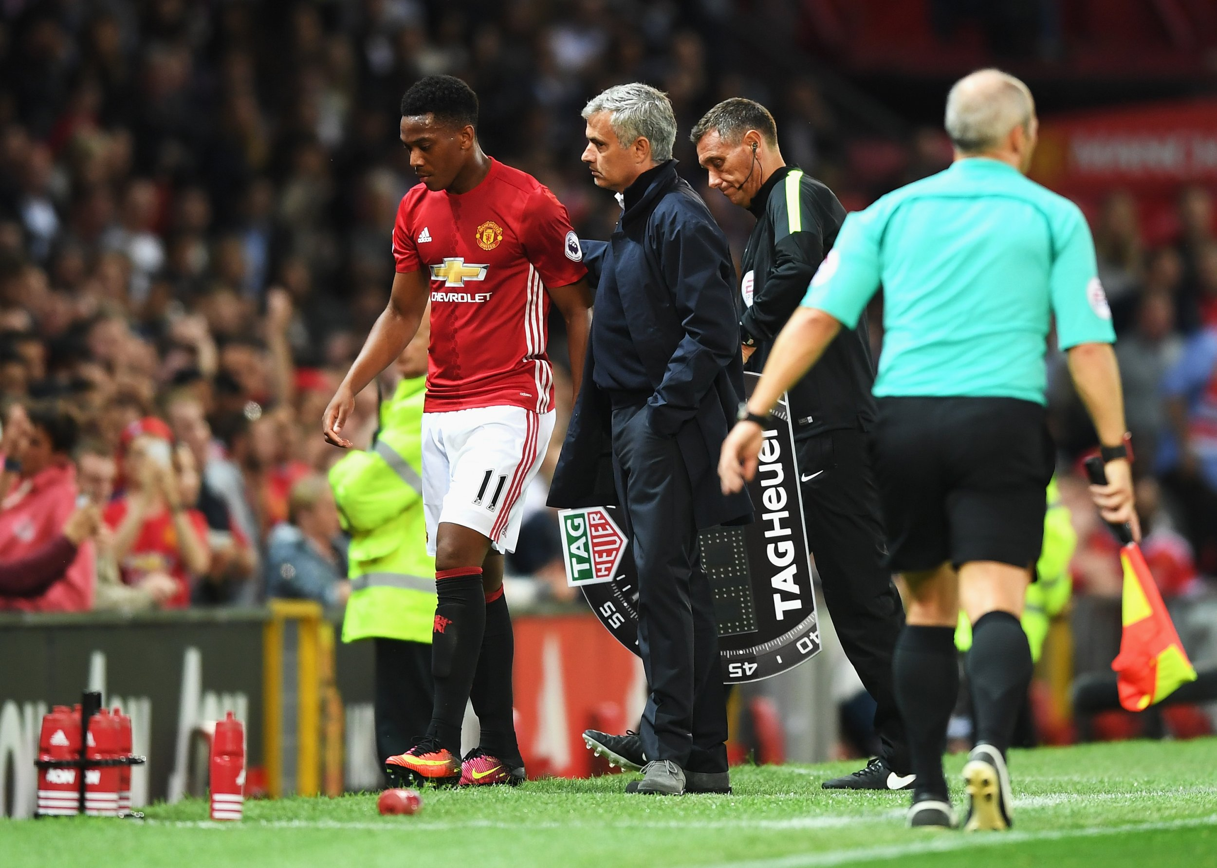 Anthony Martial and Jose Mourinho