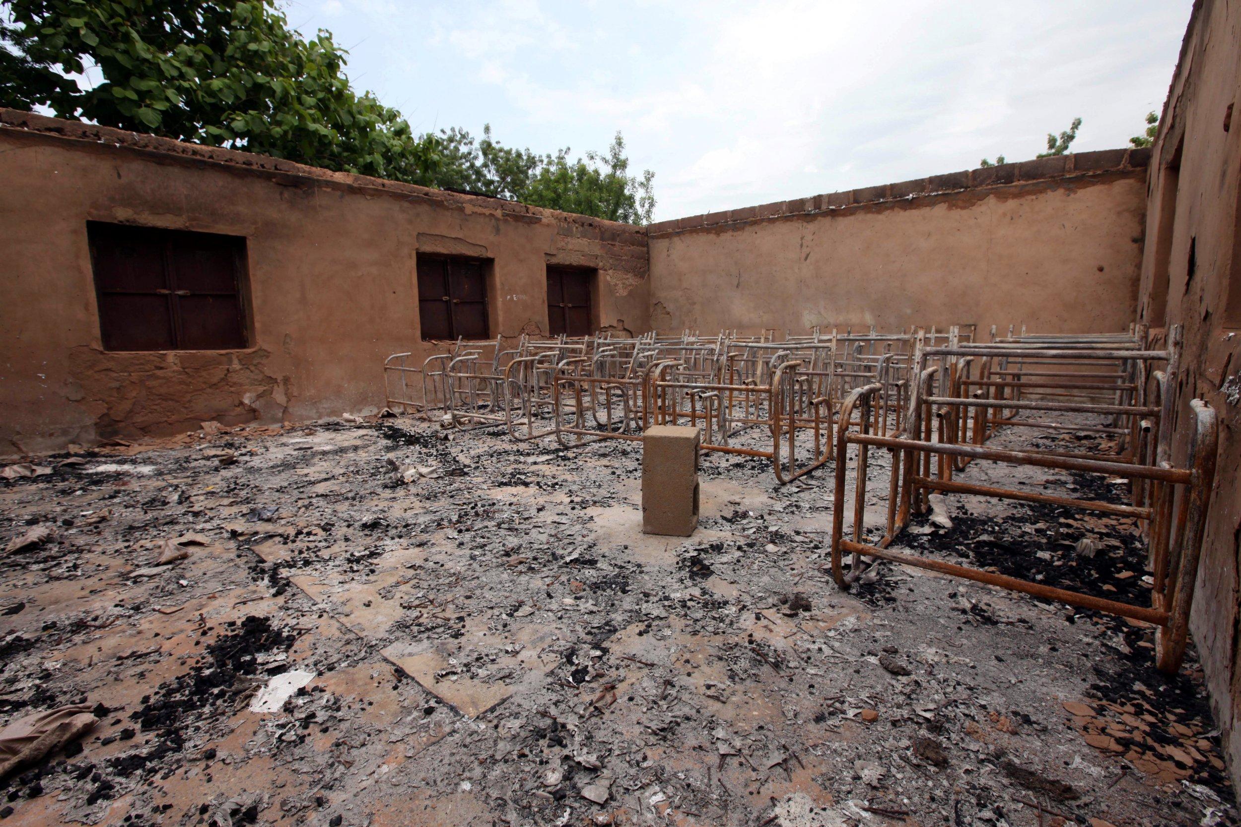 Fulani herdsmen burnt classroom