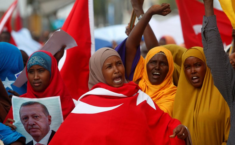 Somali women welcome Erdogan
