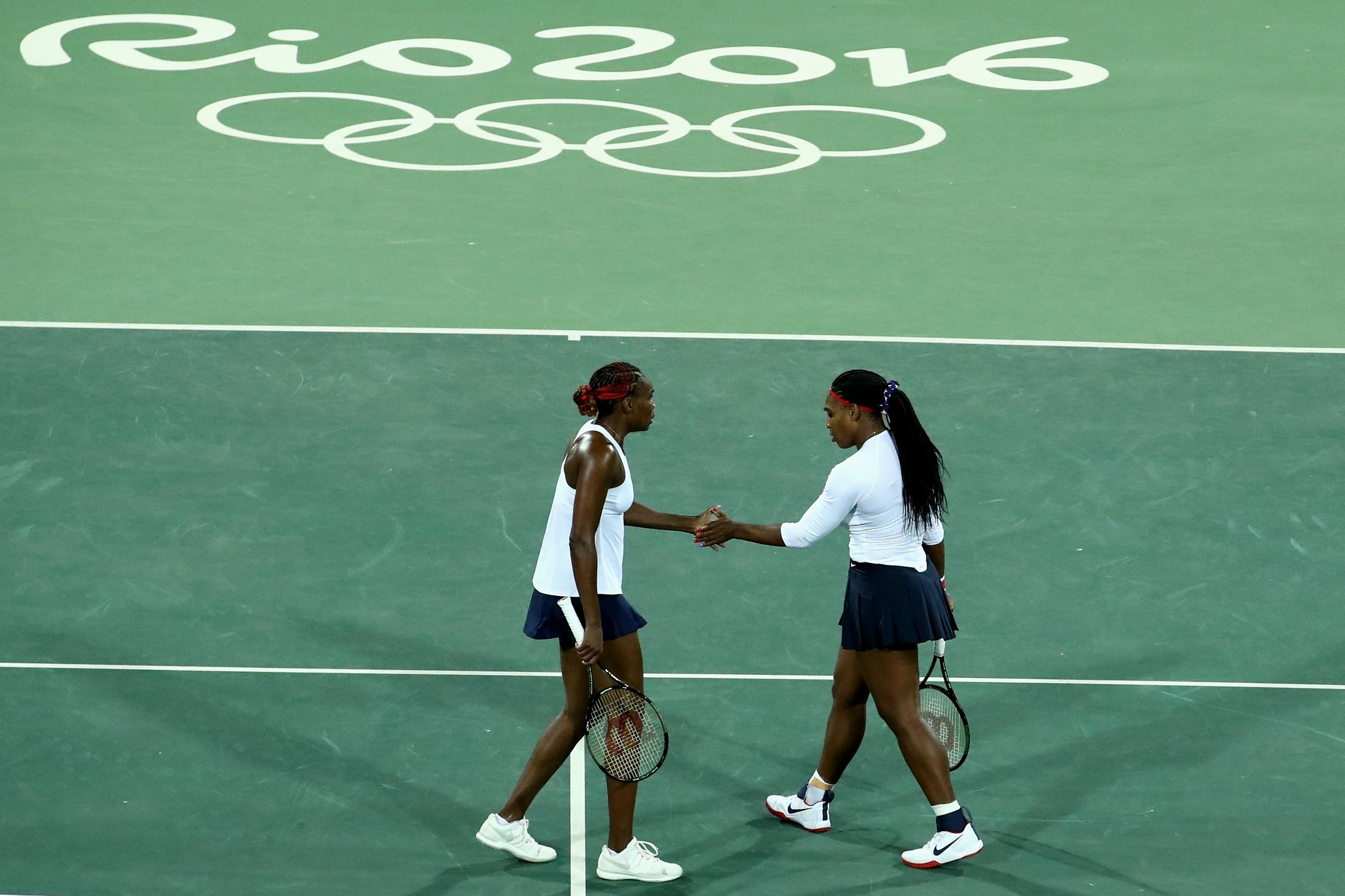 Venus and Serena Williams at the Rio 2016 Olympic Games.
