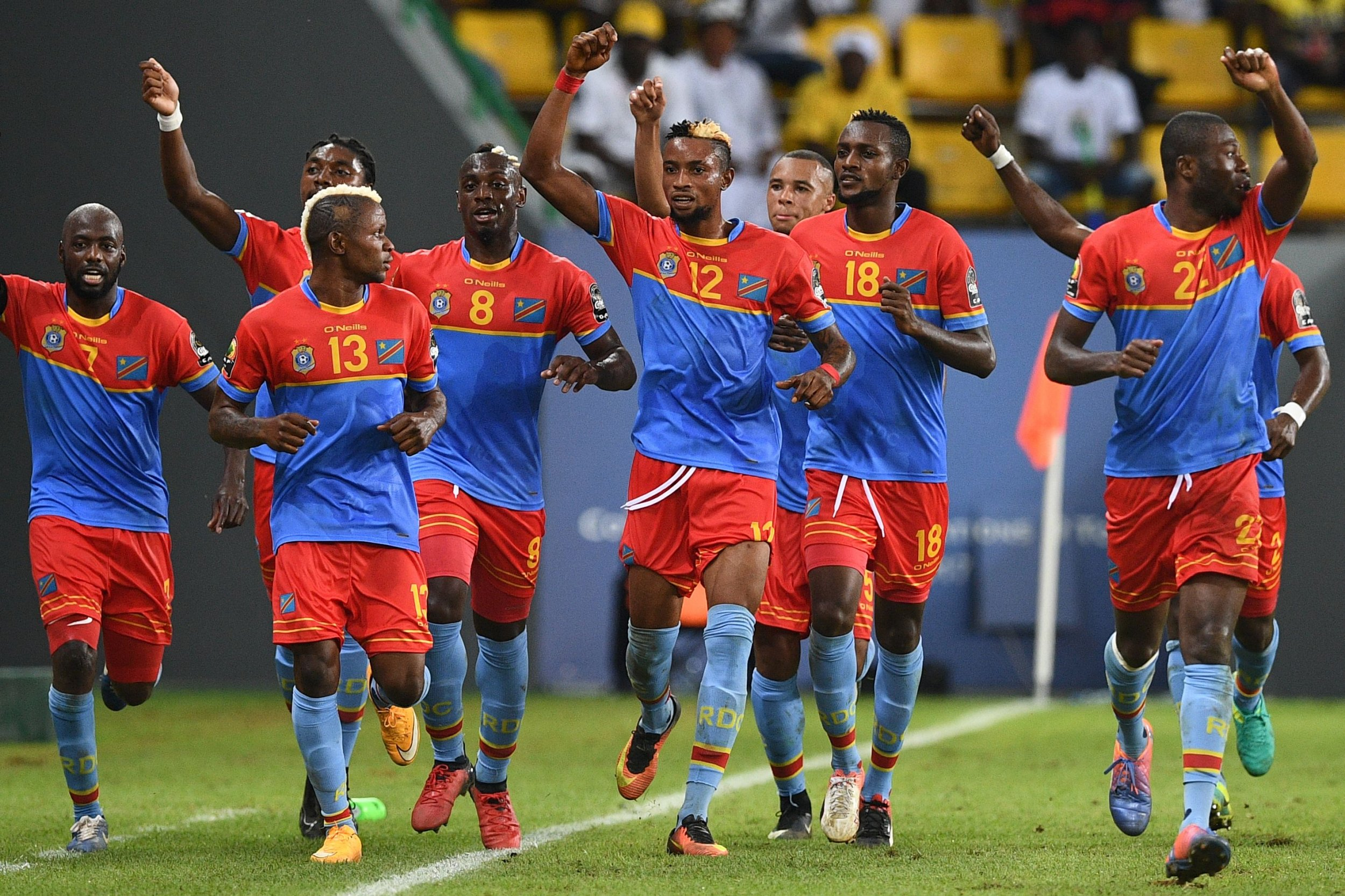 Congo football celebration