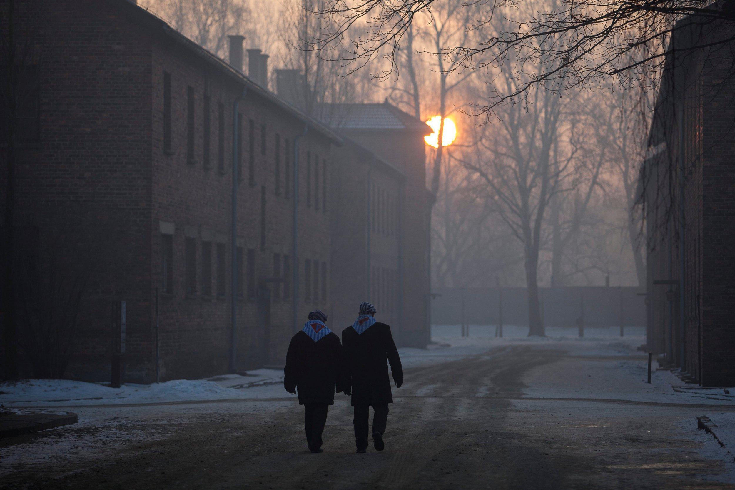 Holocaust survivors in Auschwitz 2017