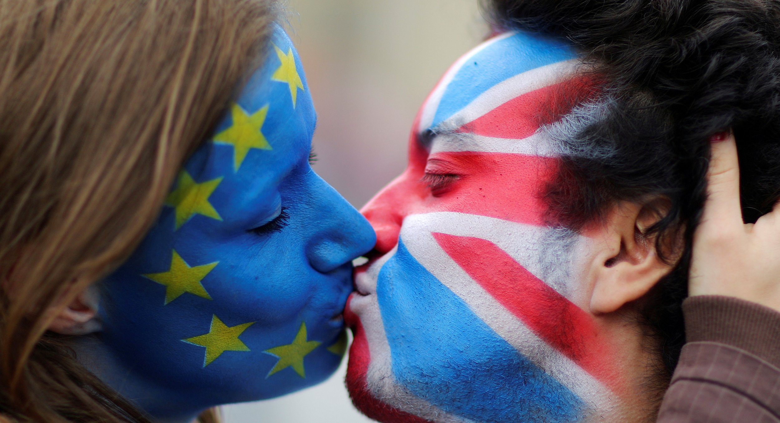 Brexit face paint