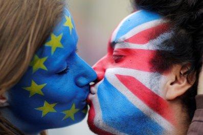 Brexit face paint