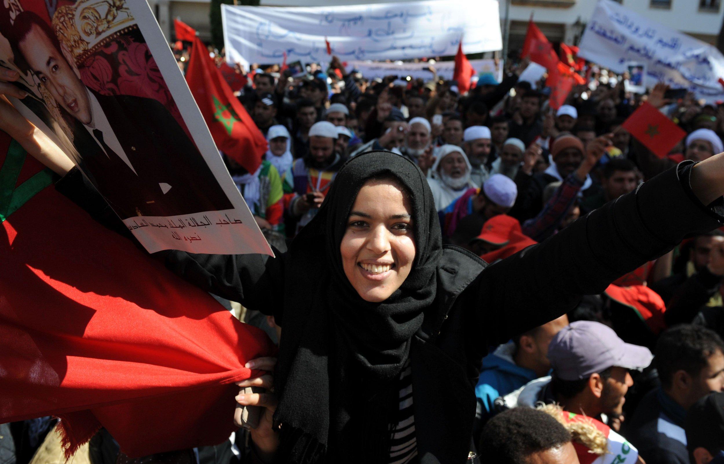 Morocco Western Sahara protest