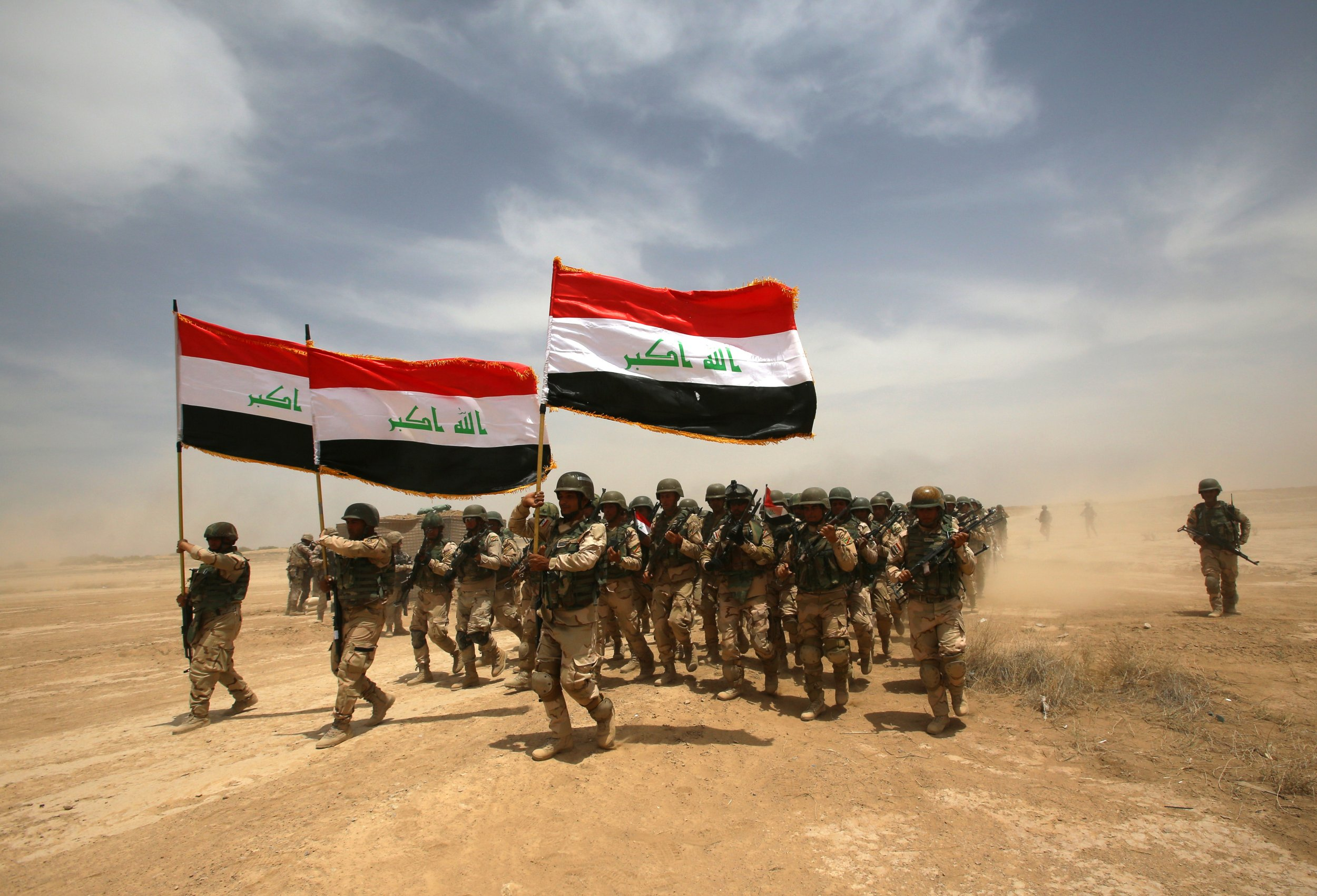 Iraqi military trained by the coalition