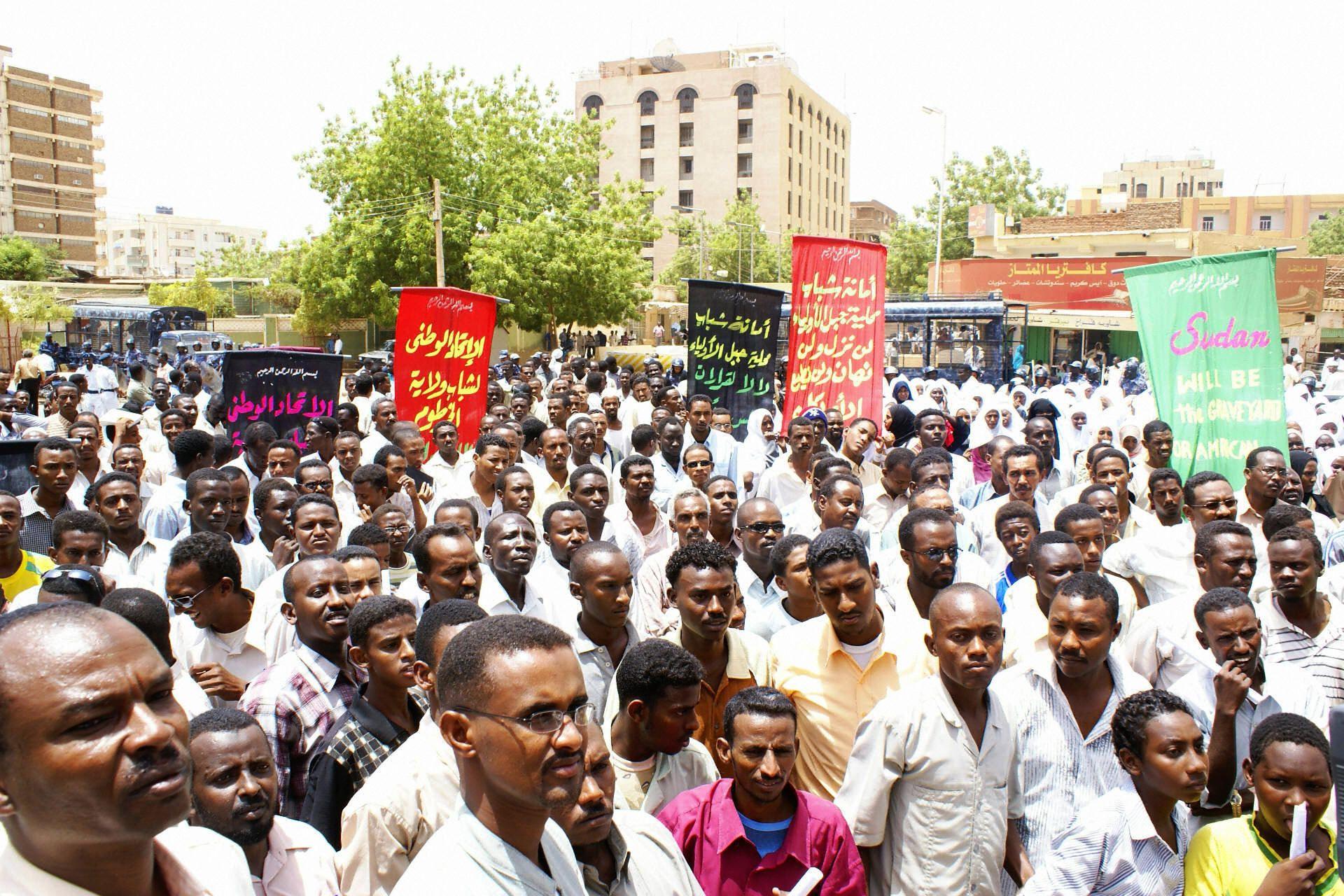 Sudan protest U.S. embassy