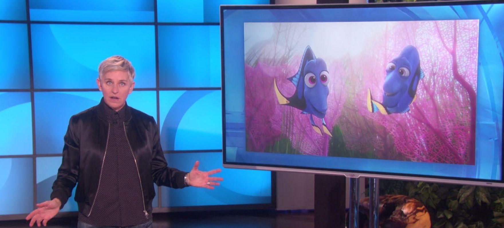 Ellen talks Finding Dory and Donald Trump