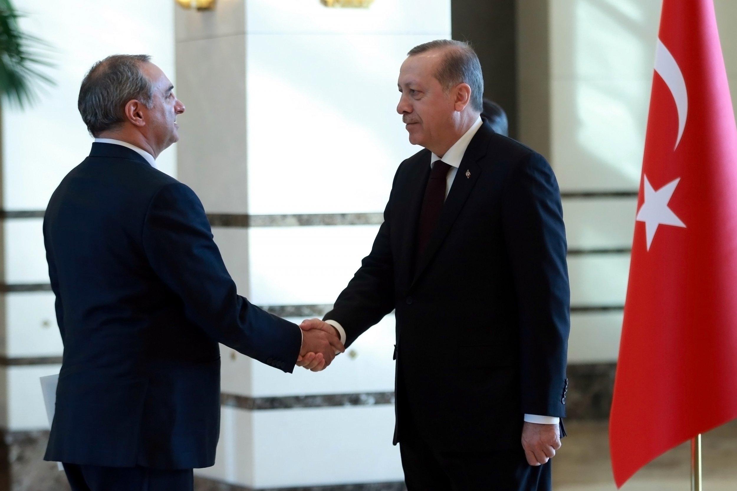 Israeli ambassador and Turkish President