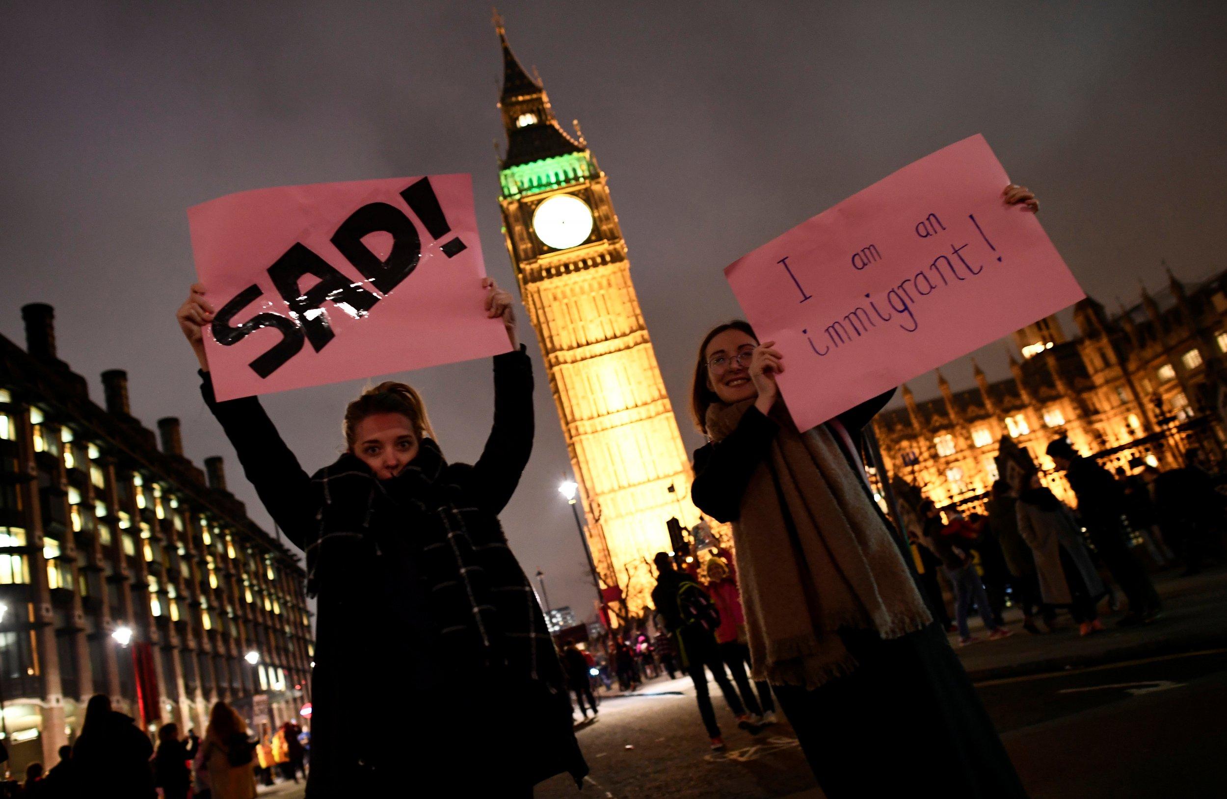 Trump protest in London