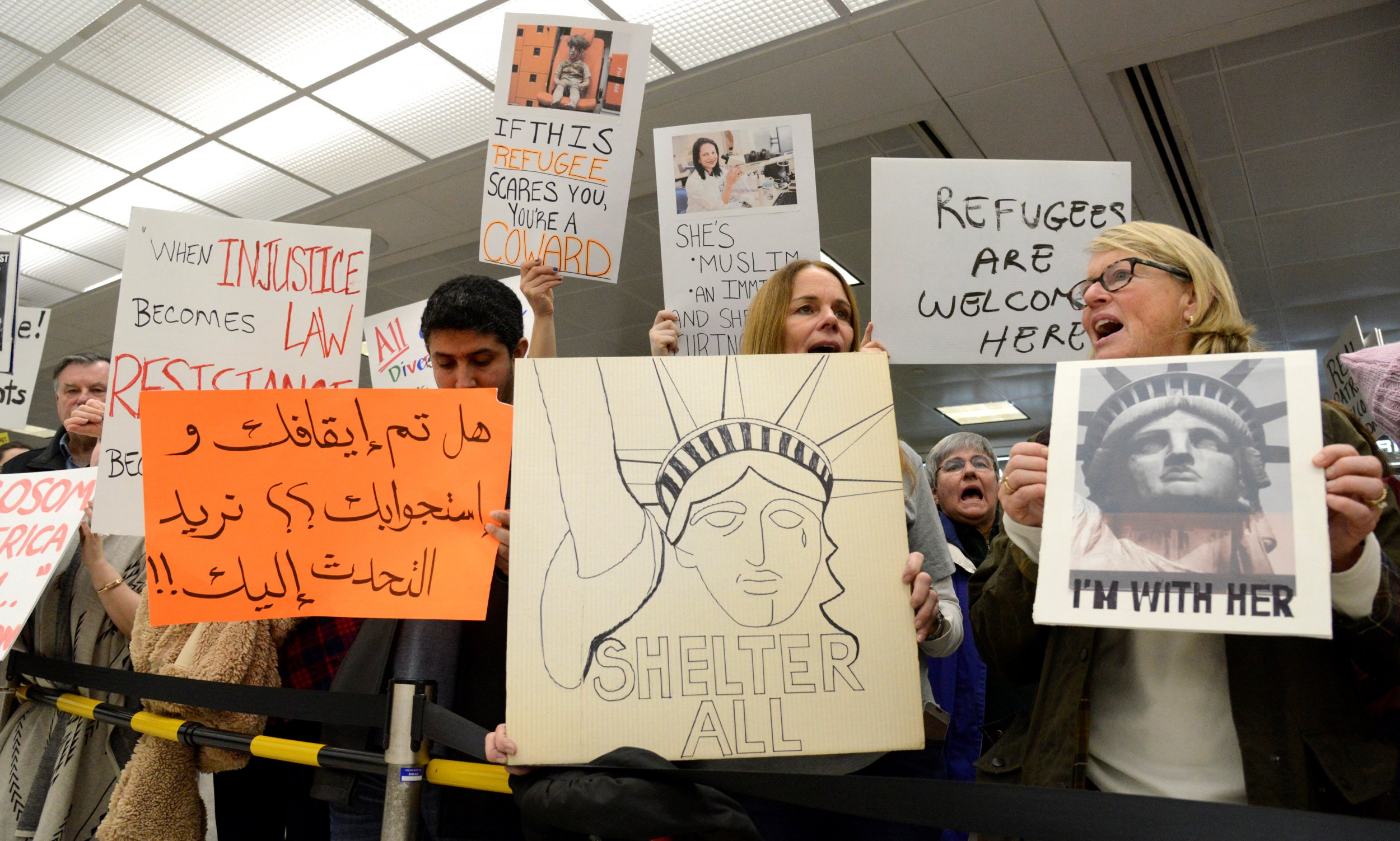 Dulles airport protest
