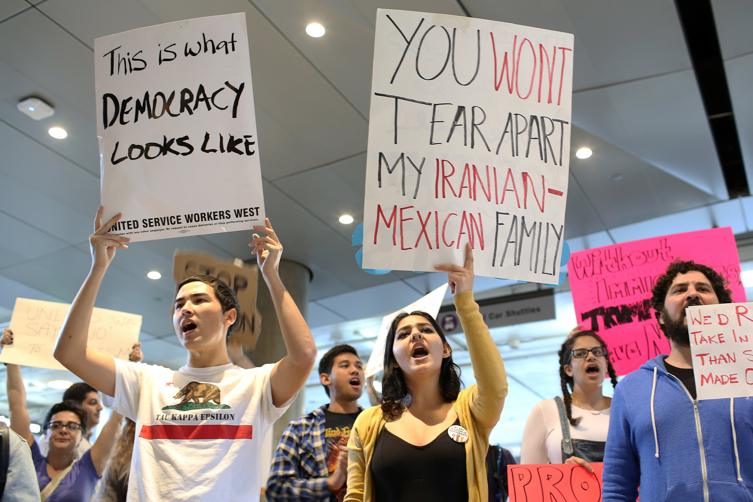 Los Angeles Airport protest