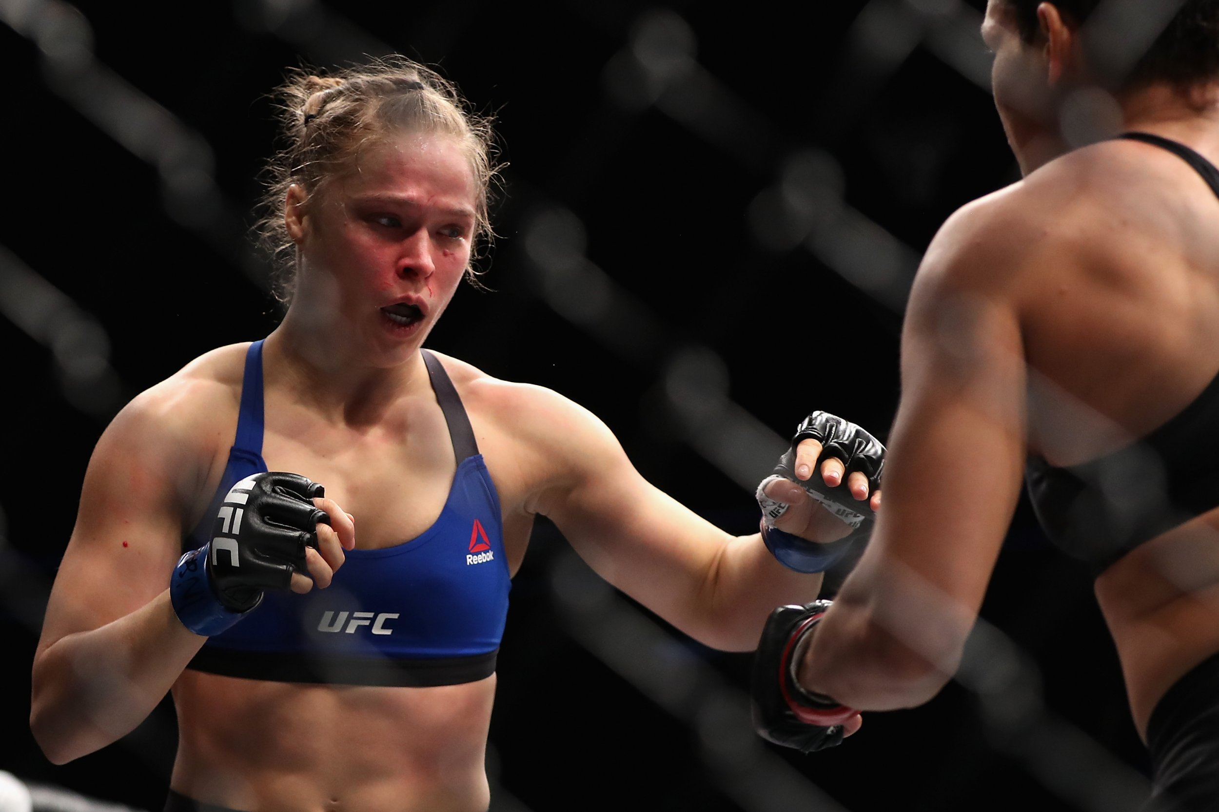 UFC star Ronda Rousey, left.