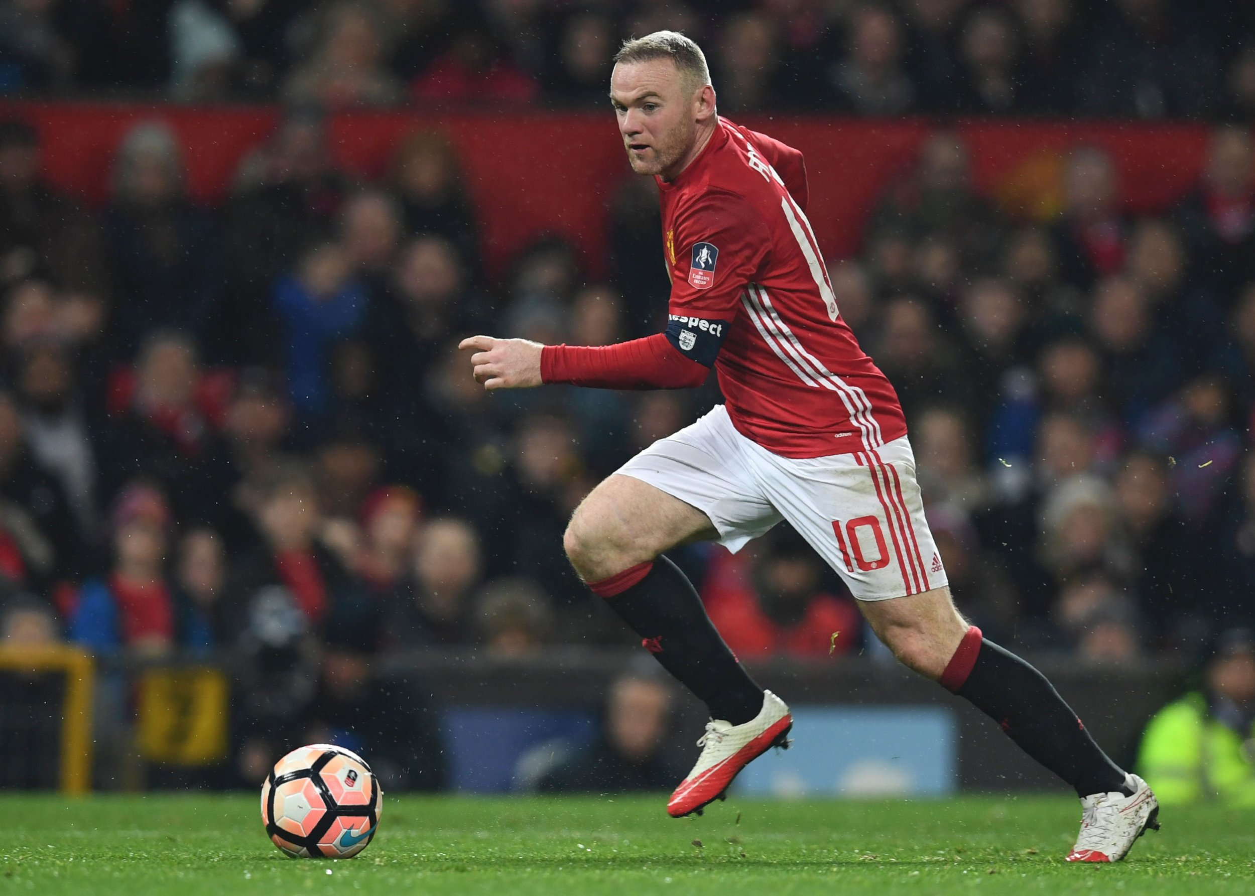 Manchester United striker Wayne Rooney.