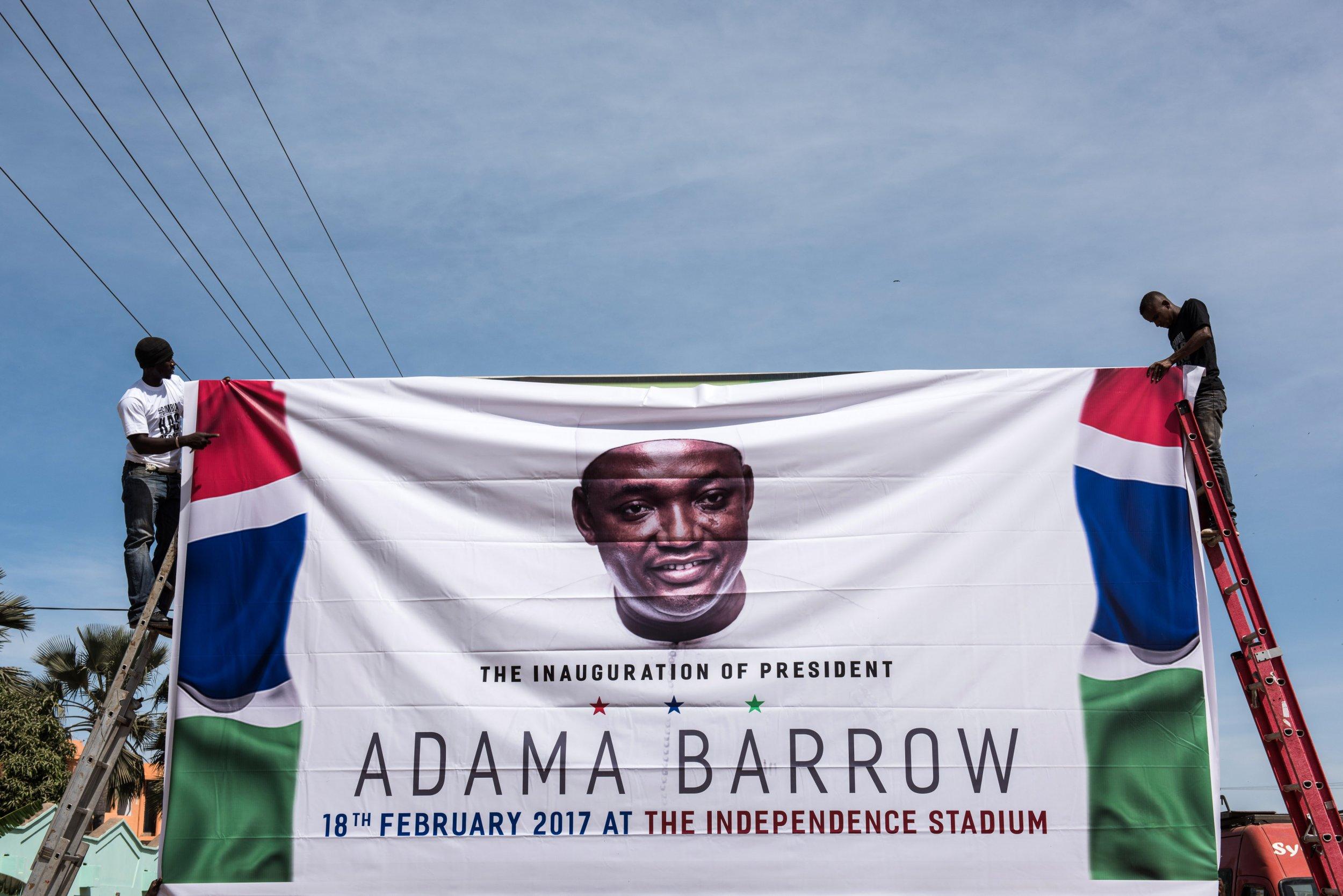Adama Barrow banner