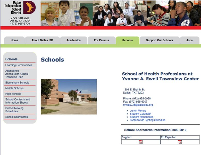 school of health professions