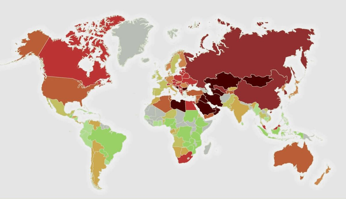 air pollution most polluted countries