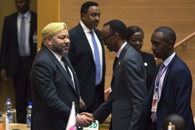 King Mohamed VI at AU summit