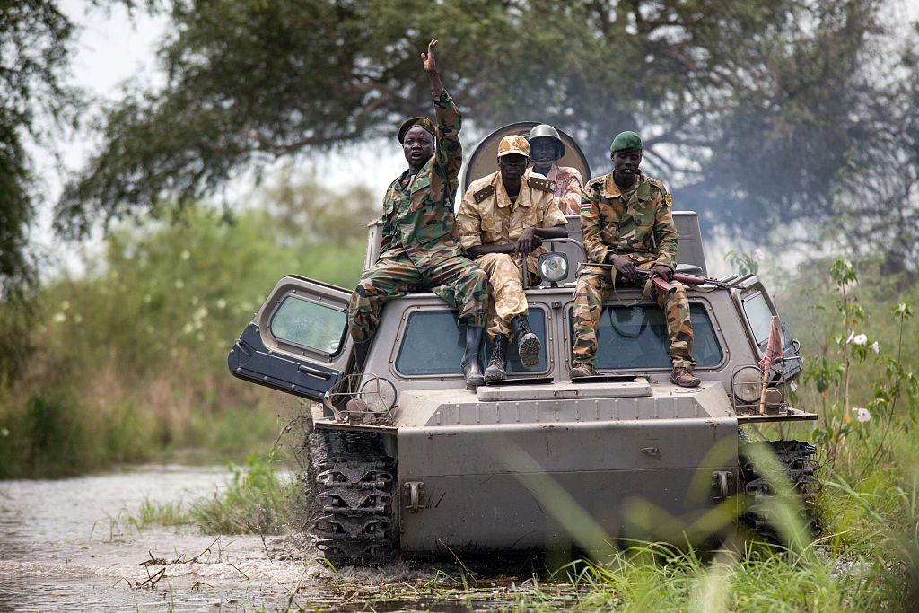 Soldiers of the Sudan People Liberation Army