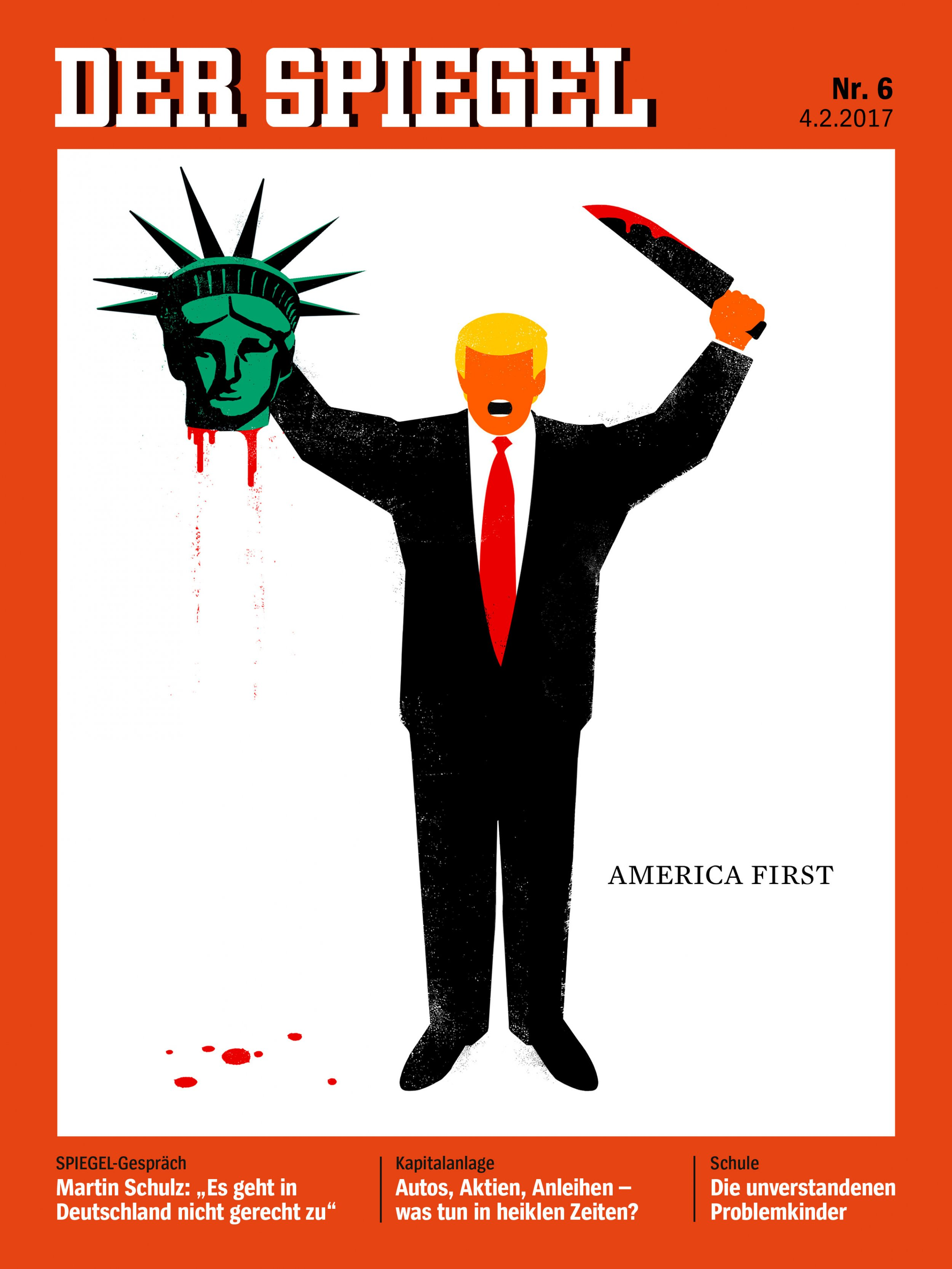 Der spiegel trump beheading cover about 39 defending democracy 39 for Spiegel cover 2018
