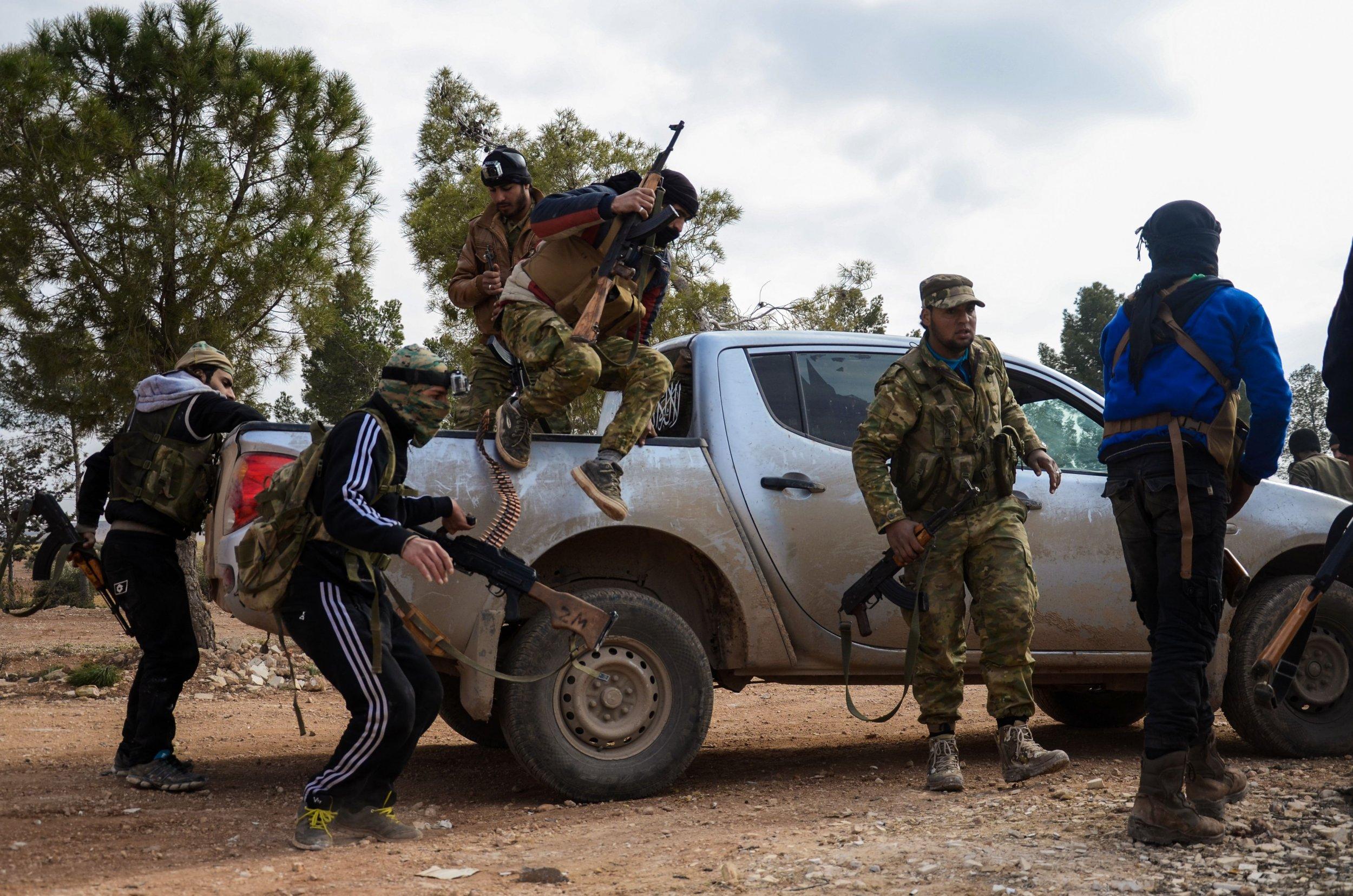 Syrian rebels in Al-Bab