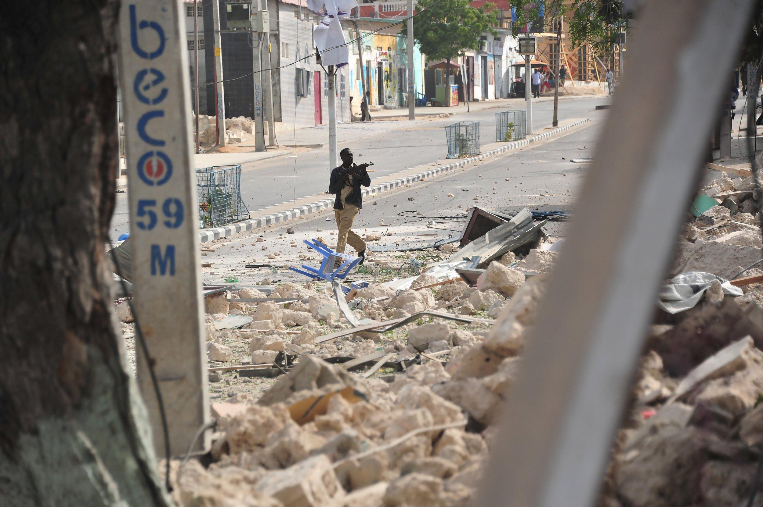 Somali policeman hotel attack