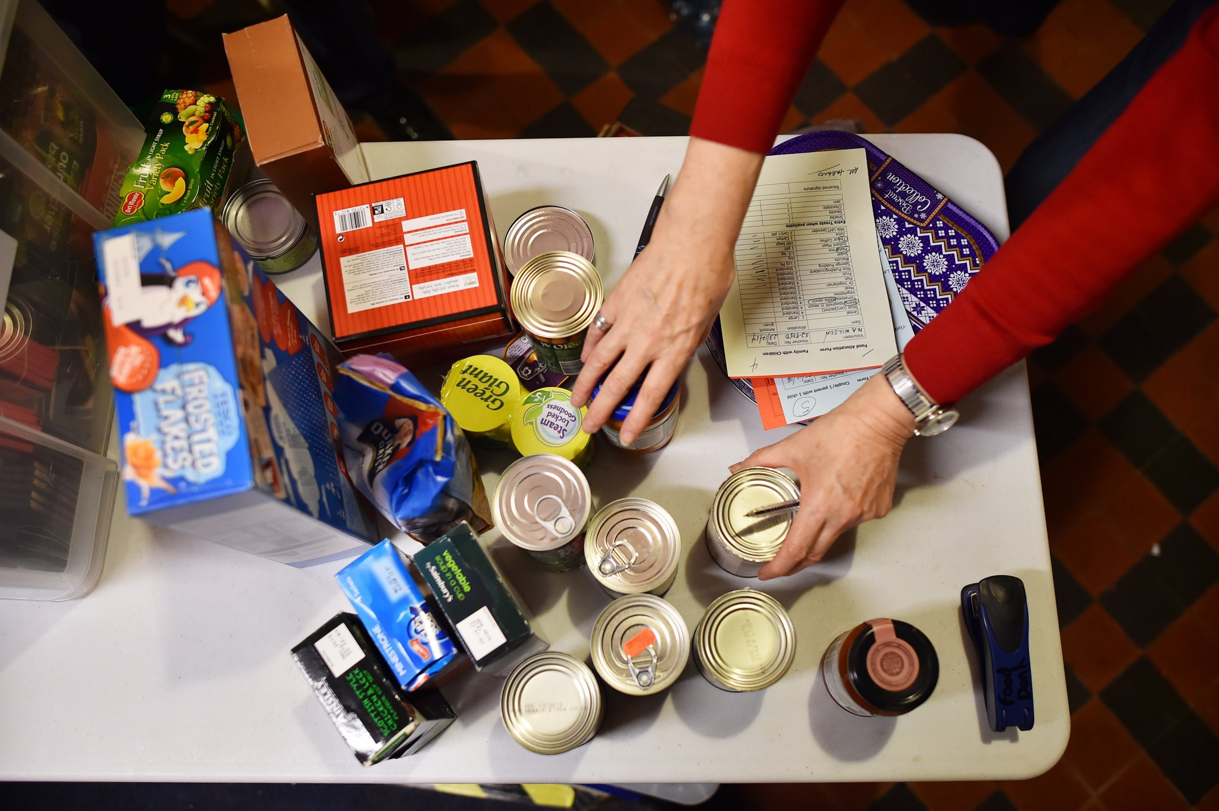 Food poverty UK 2014