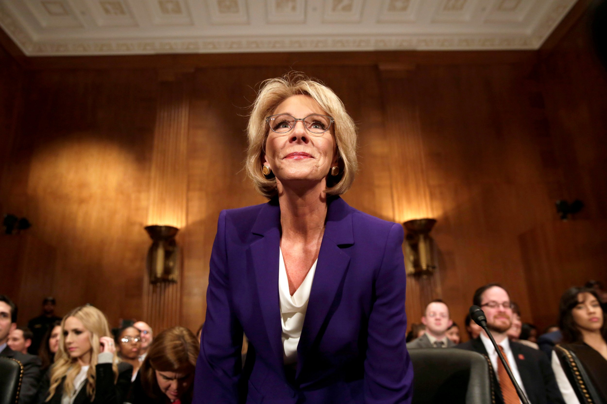 Our Next Secretary Of Education Should >> Betsy Devos Narrowly Confirmed As Education Secretary