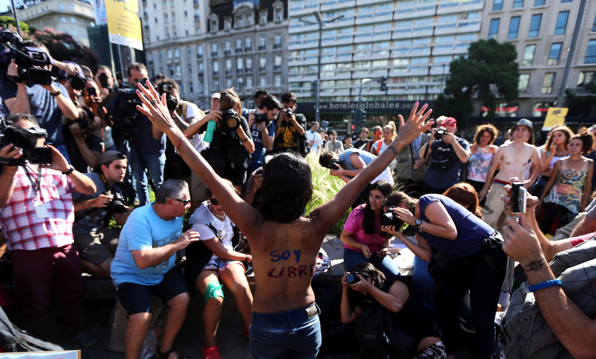 Argentine Topless Protest
